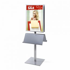 <h4>Stand info pole 70 x 10. Marco 25 mm a inglete doble cara</h4>